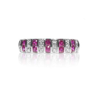ABL R Anello oro 18kt brillanti e rubini