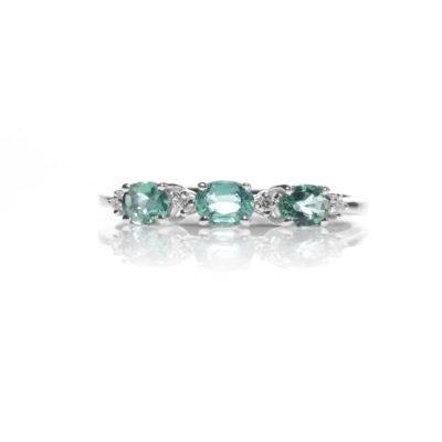 AF 1 S Anello oro 18kt brillanti e smeraldi