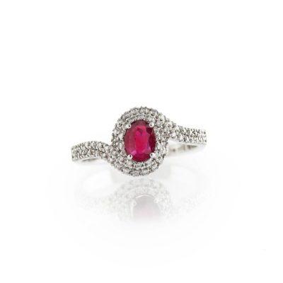 APQ 6064 R Anello oro 18kt brillanti e rubino