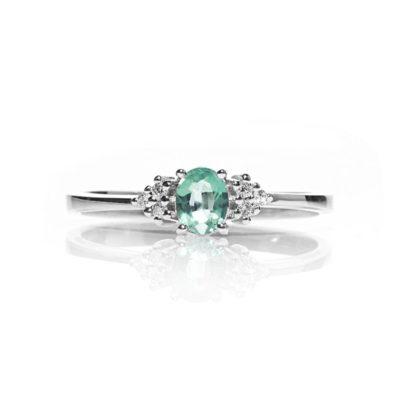 FASM 2 Anello oro 18kt brillanti e smeraldo