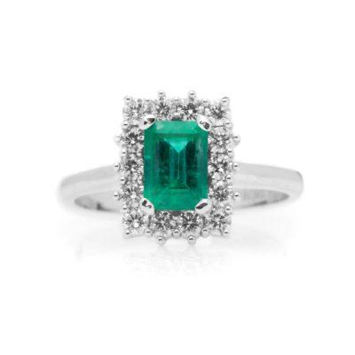 FASM 75 Anello oro 18kt brillanti e smeraldo