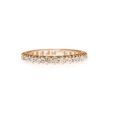 GIRO P BROWN Anello oro 18kt e brillanti